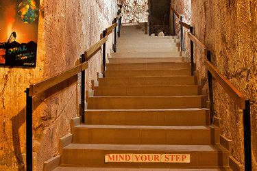 Radeka Down Under Coober Pedy Underground Accommodation Stairs to Dorm rooms