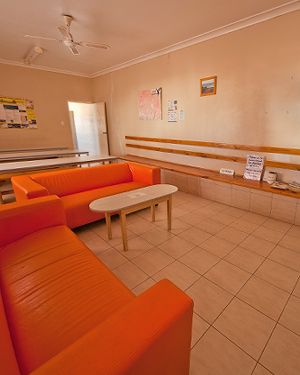Radeka Down Under Coober Pedy Underground Accommodation Communal TV Room Facilities